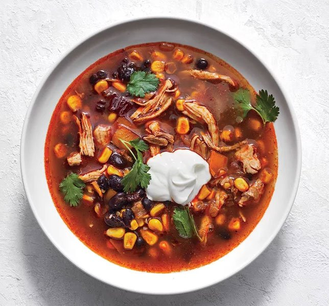 Slow Cooker Tex-Mex Chicken & Black Bean Soup