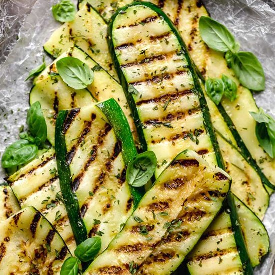 Perfectly Grilled Zucchini